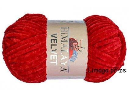 příze Velvet 90018 červená  PLETACÍ A HÁČKOVACÍ PŘÍZE