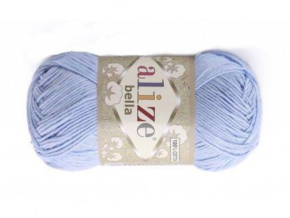 Příze Bella 40 světle modrá  pletací a háčkovací příze, 100% bavlna
