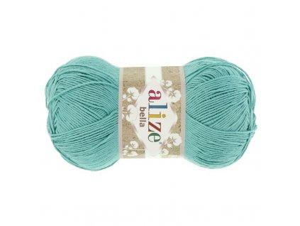 Příze Bella 462 mint  pletací a háčkovací příze, 100% bavlna
