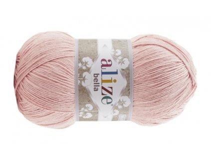 PŘÍZE BELLA 613 TĚLOVÁ  pletací a háčkovací příze, 100% bavlna
