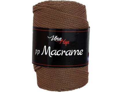 Příze pp Macrame 4228 tmavě hnědá  PLETACÍ A HÁČKOVACÍ PŘÍZE, 100% POLYESTER