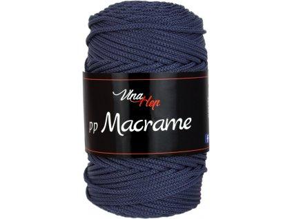 Příze pp Macrame 4602 kouřově modro šedá  pletací a háčkovací příze, 100% polyester