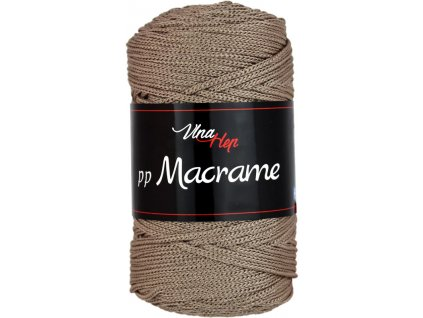 Příze pp Macrame 4224 hnědošedá  pletací a háčkovací příze, 100% polyester