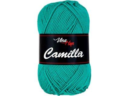 Příze Camilla 8139 zelená smaragdová  pletací a háčkovací příze, 100% bavlna