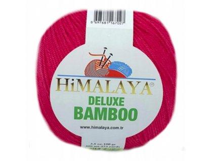 Příze Deluxe Bamboo 124-10 červená  Pletací a háčkovací příze