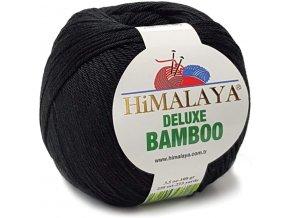 Příze Deluxe Bamboo 124-29 černá  Pletací a háčkovací příze