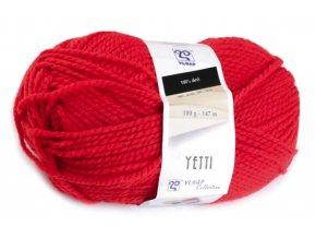 Příze Yetti 52180 červený mák  100% akryl