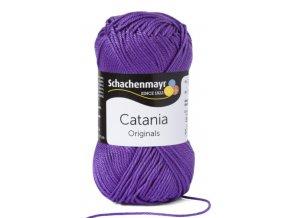 Catania 113 violet (fialová)  pletací a háčkovací příze, 100% bavlna