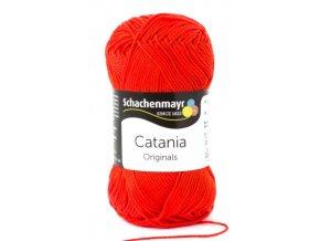 Catania 390 tomato  pletací a háčkovací příze, 100% bavlna