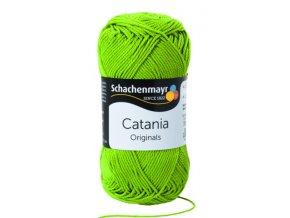 Catania 205 zelené jablko  pletací a háčkovací příze, 100% bavlna