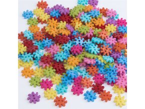 smiry 100 Pcs 15 15mm font b Gear b font Pattern Two Holes Flatback Candy Color