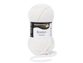 Příze Boston 101 bílá  70% akryl, 30% střižní vlna