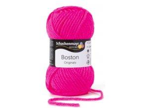 Příze Boston 136 neonově růžová  70% AKRYL, 30% STŘIŽNÍ VLNA