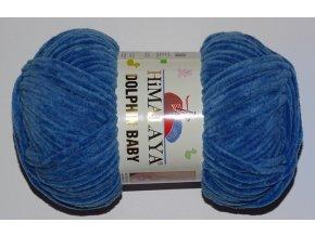 Příze Dolphin baby 80341 modrá jeans  PLETACÍ A HÁČKOVACÍ PŘÍZE