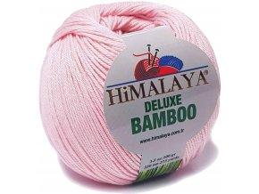 Příze Deluxe Bamboo 124-06 světle růžová  Pletací a háčkovací příze