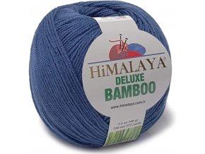 Příze Deluxe Bamboo 124-27 džínově modrá  Pletací a háčkovací příze