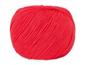 PŘÍZE JEANS 8303 neon červená  Pletací a háčkovací příze
