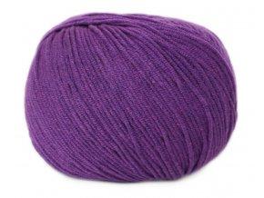 PŘÍZE JEANS 8057 tmavě fialová  Pletací a háčkovací příze