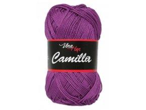 Příze Camilla 8065 fialová  100% bavlna