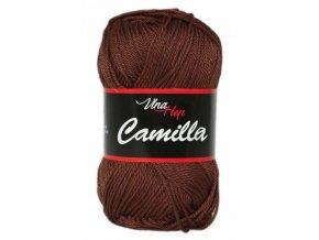 Příze Camilla 8220 tmavá čokoládová  PLETACÍ A HÁČKOVACÍ PŘÍZE