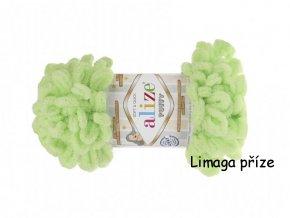 Příze Puffy 41 jarní zelená  Pletení na rukou 100% polyester