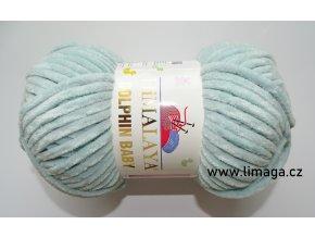 Příze Dolphin baby 80347 mátová  PLETACÍ A HÁČKOVACÍ PŘÍZE 100% polyester