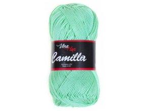 Příze Camilla 8140 mátově zelená  PLETACÍ A HÁČKOVACÍ PŘÍZE 100% bavlna