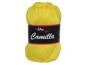 Příze Camilla 8184 sytě žlutá  PLETACÍ A HÁČKOVACÍ PŘÍZE 100% bavlna