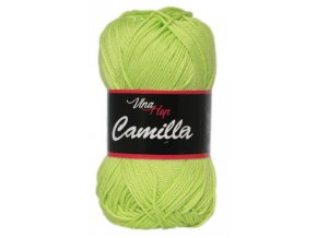 Příze Camilla 8145 ostrá zelená  PLETACÍ A HÁČKOVACÍ PŘÍZE 100% bavlna