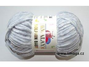 Příze Dolphin baby 80351 šedá  PLETACÍ A HÁČKOVACÍ PŘÍZE 100% polyester