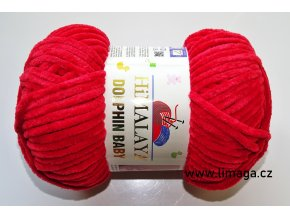 Příze Dolphin baby 80352 červená třešeň  PLETACÍ A HÁČKOVACÍ PŘÍZE 100% polyester