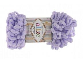 Příze Puffy 146 fialková  ruční pletení, 100% polyester