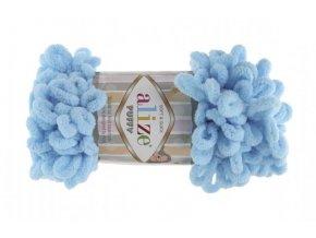 Příze Puffy 287 pastelově modrá  ruční pletení, 100% polyester