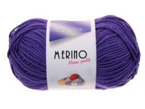 Příze Merino 14803 fialová  Pletací a háčkovací příze, 50% vlna + 50% akryl