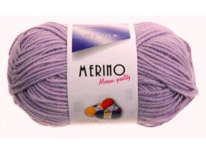 Příze Merino 14809 levandulová  Pletací a háčkovací příze, 50% vlna + 50% akryl