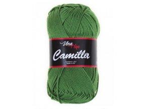 Příze Camilla 8156 zelená  PLETACÍ A HÁČKOVACÍ PŘÍZE 100% bavlna
