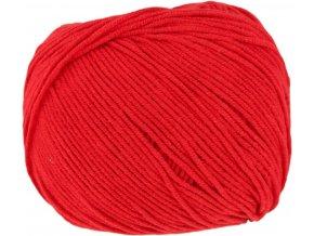 Příze Jeans 8008 červená  Pletací a háčkovací příze, s převahou bavlny