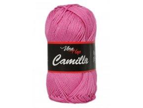 Příze Camilla 8039 růžová  100% bavlna
