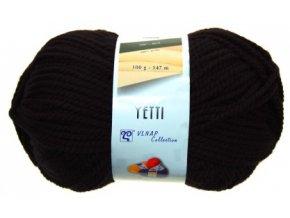 Příze Yetti 59005 černá  100% akryl