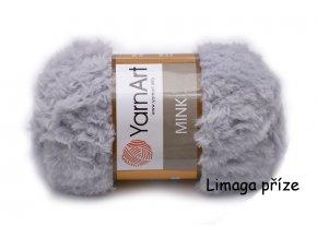 Příze Mink 334 světle šedá  pletací a háčkovací příze, 100% polyamid