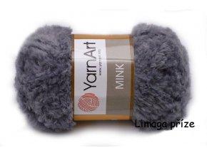Příze Mink 335 šedá  pletací a háčkovací příze, 100% polyamid