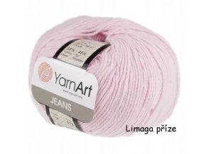 Příze Gina (Jeans) 74 pastelově růžová  55% BAVLNA, 45% AKRYL