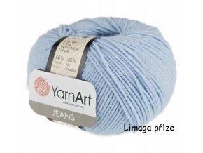 Příze Gina (Jeans) 75 jemně modrá  55% BAVLNA, 45% AKRYL