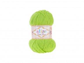 Příze Baby Best 612 zářivě zelená  90% AKRYL +10% BAMBUS