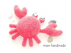 Háčkovaný krab  Háčkované dekorace