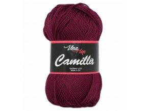 Příze Camilla 8024 tmavě bordó  pletací a háčkovací příze, 100% bavlna