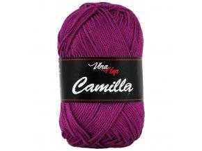 Příze Camilla 8049 tmavě purpurová  pletací a háčkovací příze, 100% bavlna