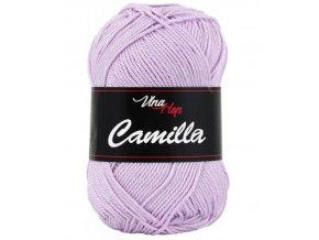 Příze Camilla 8051 pastelově fialová  pletací a háčkovací příze, 100% bavlna