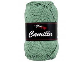 Příze Camilla 8135 bledě zelená  pletací a háčkovací příze, 100% bavlna