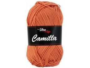 Příze Camilla 8200 terakota  pletací a háčkovací příze, 100% bavlna